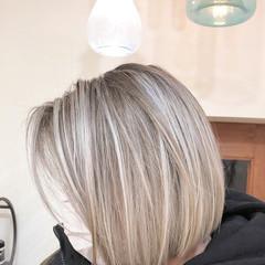 グラデーションカラー ハイライト ナチュラル ボブ ヘアスタイルや髪型の写真・画像