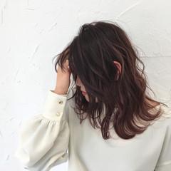 大人かわいい セミロング 外国人風 フェミニン ヘアスタイルや髪型の写真・画像