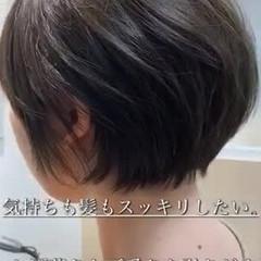 丸みショート 簡単スタイリング ショート ナチュラル ヘアスタイルや髪型の写真・画像