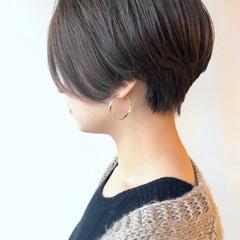 黒髪 ショート モード ハンサムショート ヘアスタイルや髪型の写真・画像