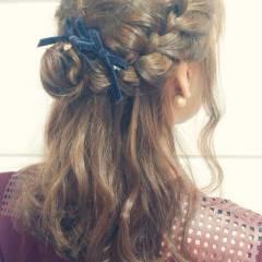 結婚式 夏 ロング お祭り ヘアスタイルや髪型の写真・画像