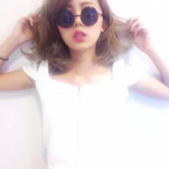 ミディアム グラデーションカラー ガーリー 渋谷系 ヘアスタイルや髪型の写真・画像
