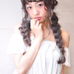 グラデーションカラー 外国人風カラー ハイライト ガーリー ヘアスタイルや髪型の写真・画像
