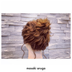 結婚式 大人かわいい ヘアアレンジ ゆるふわ ヘアスタイルや髪型の写真・画像