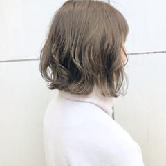 ボブ デート オフィス ナチュラル ヘアスタイルや髪型の写真・画像