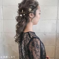 上品 エレガント 外国人風カラー セミロング ヘアスタイルや髪型の写真・画像