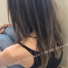 アンニュイほつれヘア バレイヤージュ 外国人風カラー ハイライト ヘアスタイルや髪型の写真・画像