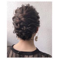 アップスタイル お呼ばれヘア ゆるふわセット ヘアアレンジ ヘアスタイルや髪型の写真・画像