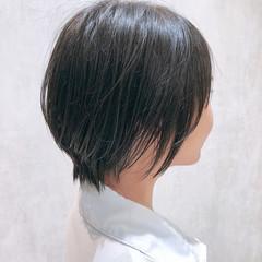 ミニボブ ナチュラル ショートヘア ショートボブ ヘアスタイルや髪型の写真・画像