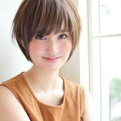 前髪あり 色気 ナチュラル ショート ヘアスタイルや髪型の写真・画像