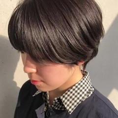 ハンサムショート ショートヘア ベージュ ショート ヘアスタイルや髪型の写真・画像