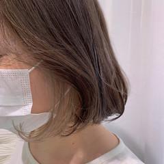 ボブ ブリーチ インナーカラー 韓国 ヘアスタイルや髪型の写真・画像