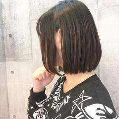 ボブ オフィス 大人女子 イルミナカラー ヘアスタイルや髪型の写真・画像