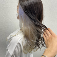 ホワイト エレガント ロング ブリーチ ヘアスタイルや髪型の写真・画像