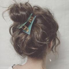 ショート ミディアム 簡単ヘアアレンジ 三角クリップ ヘアスタイルや髪型の写真・画像