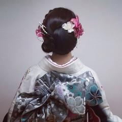 和装 ヘアアレンジ 成人式 上品 ヘアスタイルや髪型の写真・画像