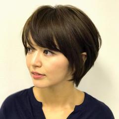 秋 ナチュラル ショート リラックス ヘアスタイルや髪型の写真・画像