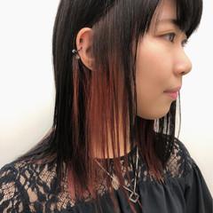 ストリート ミディアム 前髪あり ストレート ヘアスタイルや髪型の写真・画像