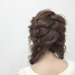 編み込み 愛され モテ髪 簡単ヘアアレンジ ヘアスタイルや髪型の写真・画像