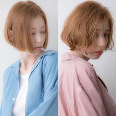 ボブ パーマ 無造作パーマ デジタルパーマ ヘアスタイルや髪型の写真・画像