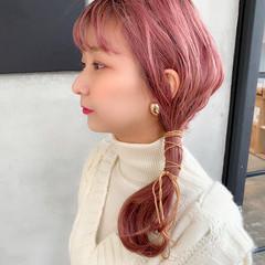透明感カラー ブリーチカラー 簡単スタイリング フェミニン ヘアスタイルや髪型の写真・画像