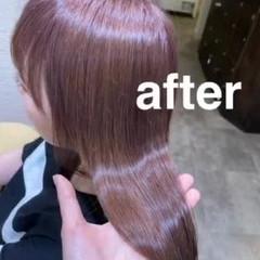 ロング ラベンダーアッシュ ラベンダー ガーリー ヘアスタイルや髪型の写真・画像