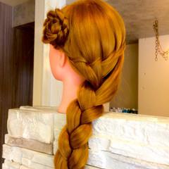 ロング ウォーターフォール ヘアアレンジ 外国人風 ヘアスタイルや髪型の写真・画像