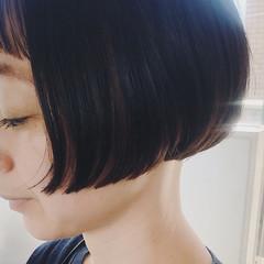 ショートボブ ミニボブ ナチュラル ボブ ヘアスタイルや髪型の写真・画像