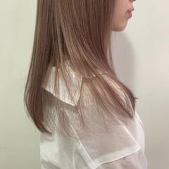 ブロンドカラー ナチュラル ラベンダーピンク ハイトーン ヘアスタイルや髪型の写真・画像
