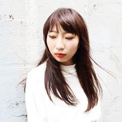 黒髪 ストリート ロング モード ヘアスタイルや髪型の写真・画像