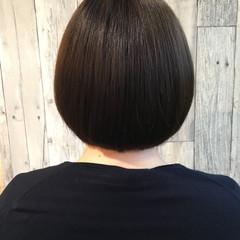 グレージュ ボブ デート 成人式 ヘアスタイルや髪型の写真・画像