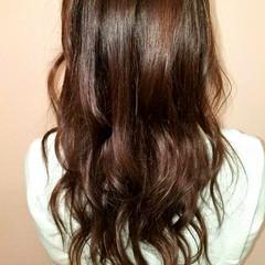 フェミニン ゆるふわ 暗髪 ロング ヘアスタイルや髪型の写真・画像