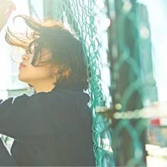 ボブ ストリート ウェーブ ストレート ヘアスタイルや髪型の写真・画像
