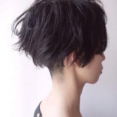 ショート 刈り上げショート 撮影 モード ヘアスタイルや髪型の写真・画像