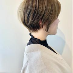 切りっぱなしボブ フェミニン ショートボブ ショートヘア ヘアスタイルや髪型の写真・画像