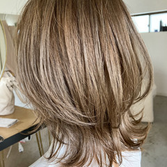 グレージュ オフィス ボブ ナチュラル ヘアスタイルや髪型の写真・画像