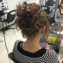 お団子 ヘアアレンジ 和装 花火大会 ヘアスタイルや髪型の写真・画像