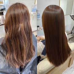 ナチュラル ロング 縮毛矯正 艶髪 ヘアスタイルや髪型の写真・画像