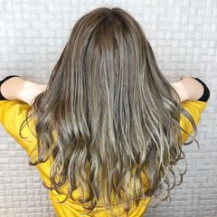 モード バレイヤージュ セミロング 韓国ヘア ヘアスタイルや髪型の写真・画像