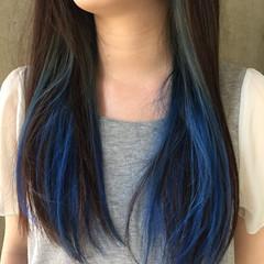 暗髪 ロング グラデーションカラー モード ヘアスタイルや髪型の写真・画像