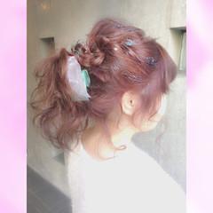 簡単ヘアアレンジ ヘアアレンジ フェミニン 成人式 ヘアスタイルや髪型の写真・画像