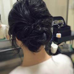 お呼ばれ 大人可愛い ミディアム 結婚式 ヘアスタイルや髪型の写真・画像