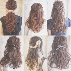 ヘアアレンジ アッシュ 簡単ヘアアレンジ 結婚式 ヘアスタイルや髪型の写真・画像