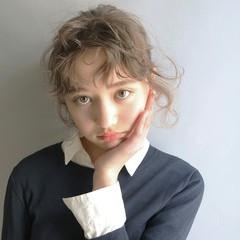 ハイライト ガーリー ヘアアレンジ ゆるふわ ヘアスタイルや髪型の写真・画像