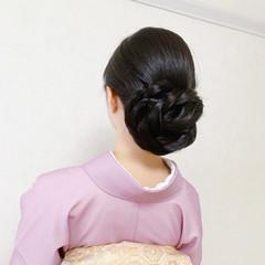エレガント 黒髪 着物 和装ヘア ヘアスタイルや髪型の写真・画像