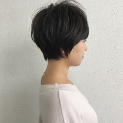 ナチュラル 女子力 ハイライト ショート ヘアスタイルや髪型の写真・画像