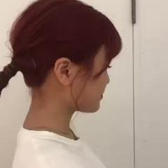 ピンクラベンダー ベリーピンク ミディアム ピンクパープル ヘアスタイルや髪型の写真・画像