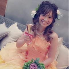 結婚式 大人かわいい ロング ヘアアレンジ ヘアスタイルや髪型の写真・画像