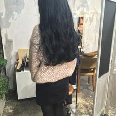 韓国風ヘアー ナチュラル ヘアカラー ロング ヘアスタイルや髪型の写真・画像