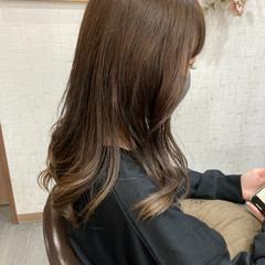 ヨシンモリ ミルクティーベージュ 韓国ヘア ガーリー ヘアスタイルや髪型の写真・画像
